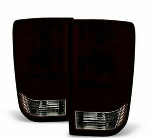 For 2004 2015 Nissan Titan Tail Brake Lights Lamps Red Smoked Right Left Set