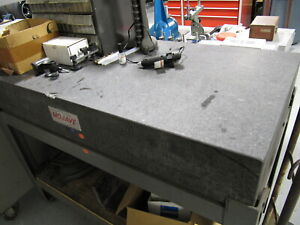 Mojave 48 X 24 Granite Surface Plate With Stand Inspection Plate