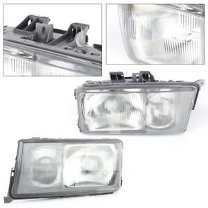 Car Front Left right Side Headlights Pair For Mercedes Benz W201 190e 190d 84 94