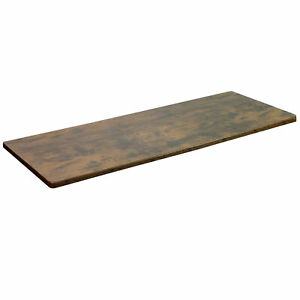 Vivo Vintage Brown 60 X 24 Inch Universal Table Top For Sit To Stand Desk Frames
