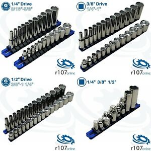 Blue Point Tools 1 4 3 8 1 2 Shallow Deep Imperial Sae Sockets Adaptors