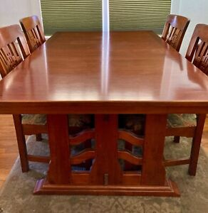 Mission Craftsman Style Cherry Furniture Table Chairs Breakfront