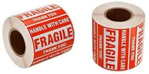Fragile Shipping Label Stickers 2x3 Handle With Care Caution Warning 2 X 500 Ct