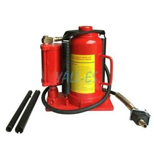 34 6 Lbs Air Hydraulic Bottle Jack Heavy Duty Truck Repair 20 Ton
