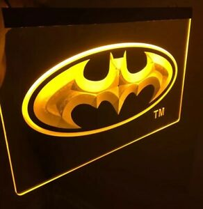 Batman Signal Led Neon Sign For Game Room office bar man Cave Brand New