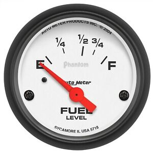 5718 Autometer 5718 Phantom Electric Fuel Level Gauge