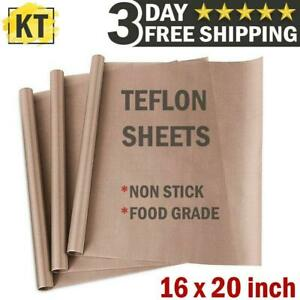 Teflon Transfer Sheets For Heat Press Non Stick Iron Resistant Reusable 3 Pack