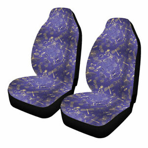 Polyester Car Front Seat Cover Universal Bucket Cushion Protector Breathable Mat