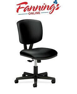 Hon Volt Leather Task Chair Computer Chair For Office Desk Black h5703 Defect