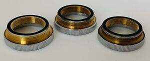 Genuine Nikon M26 To Rms Microscope Objective Adapter Lot Of 3
