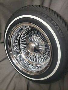 13 x7 Reversed Chrome Knock Off Wire Wheels With Tires
