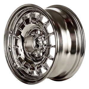 Chrome Plated 15 Slot 14x6 5 Factory Wheel 1975 1976 Mercedes 280s