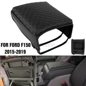 Center Console Cover Armrest Cover Replacement Pu Leather For Ford F150 15 19 Us