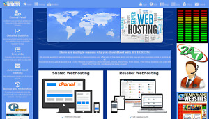 Ready Made Reseller Webhosting Website Style 3006 Free Billing System Included