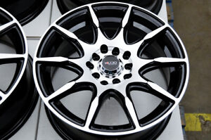 15 Wheels Honda Civic Accord Celica Corolla Vw Jetta Scion Xb Rims Black 5 Lugs