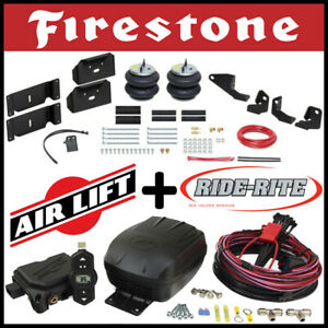 Firestone Ride Rite Bags Kit Airlift Air Compressor 2017 19 Ford F 250 F 350 2wd