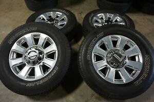 20 Ford F250 Factory Oem Polished Wheels Rims Michelin Tires 10103 F350
