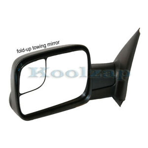 Tyc 02 08 Ram 1500 03 09 2500 3500 Truck Manual Towing Mirror Black Left Side