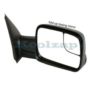 Tyc 02 08 Ram 1500 03 09 2500 3500 Truck Manual Towing Mirror Black Right Side