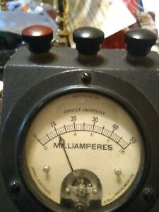 Vintage Dc Current Meter Jewell Electrical Instrument Co Steampunk Milliamps