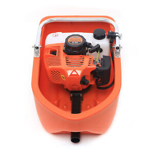 2 Stroke 2 Hp Gas Powered Water Pump Flood Irrigation Portable Water Transfer Ce