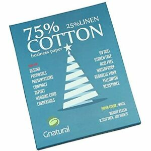 75 Cotton 25 Linen Paper 85gsm Inkjet Printing 8 5 x11 White Color Resume