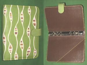 Compact 0 75 Green Fabric Angela Adams Planner Binder Franklin Covey Rugs