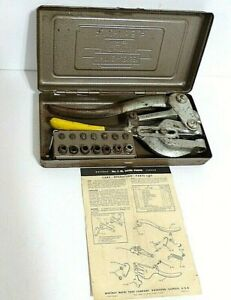 Whitney Metal Tool Co No 5 Jr Hand Punch W Punches Tool Instructions