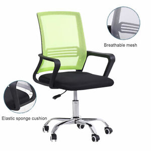Executive Green Gaming Office Computer Desk Chair Adjustable Swivel Mesh Seat
