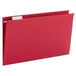 Smead Hanging File Folders With Tab Legal 8 1 2 X 14 Sheet Size 1 5