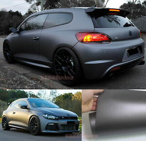 Entire Car Wrapping Paint Satin Matte Steel Chrome Vinyl Sticker Stretch Grey Us