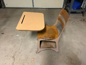 Vintage Child S School Desk Local Pick Up Only