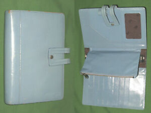 Compact 0 75 Baby Blue Leather Kenenth Cole Planner Binder Franklin Covey