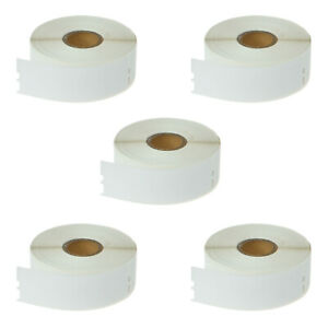 5 Rolls Of Address Labels 1 1 8 X 3 1 2 Compatible For Dymo 30252 Lw Se300 450