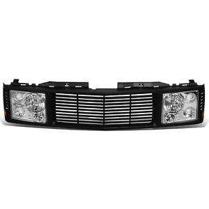 Fit 94 00 Chevy Gmc C K 1500 2500 3500 Headlights Front Bumper Grille Grill