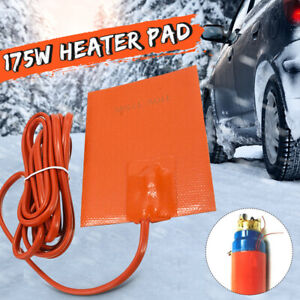 Car Engine Oil Pan Heater Pad Silicone 175w 110v Sump Tank Heater Reduce Wear