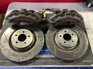 2015 2016 2017 2018 2019 Mustang Gt 6 Piston Front Brembo Calipers Brakes