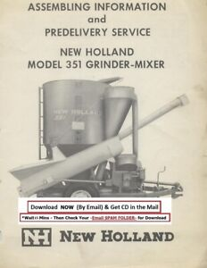 New Holland Grinder Mixer Model 351 Operator Instruction Manual