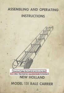 New Holland Model 131 Bale Carrier Assembling Operating Instructions Manual