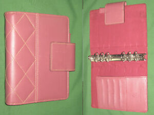 Compact 1 0 Pink Faux Leather Franklin Covey 365 Planner Open Binder 2212