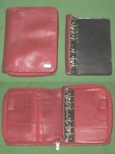 Pocket 1 0 Red Nappa Leather Franklin Covey Planner Unstructured Binder