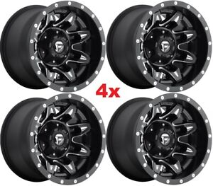 15 Fuel Wheels Rims Black Milled 15x10 Wrangler Yj Tj Jl