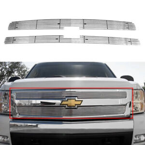 Horizontal Billet Grille Insert Chrome Fits 2007 2013 Chevrolet Silverado 1500