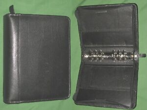 Compact 1 5 Black Top Grain Leather Franklin Covey Quest Planner Binder