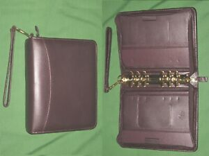 Compact 1 5 Red Full Grain Leather Franklin Covey Quest Planner Binder