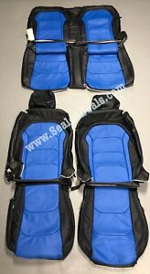 2016 2021 Chevy Chevrolet Camaro Blue Katzkin Leather Seat Replacement Covers
