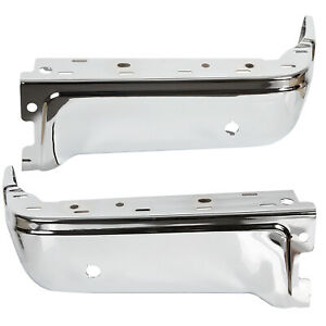 New Chrome Driver Passenger Steel Rear Bumper End Caps For 2009 2014 Ford F150
