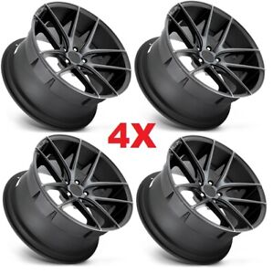 17 Black Wheels Rims Niche Accord Civic