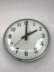 12 National Time Electric Wall Clock Surface Mount School Office Syncron Ex