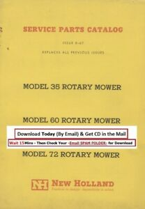 New Holland 35 60 72 Rotary Mower Service Parts Manual